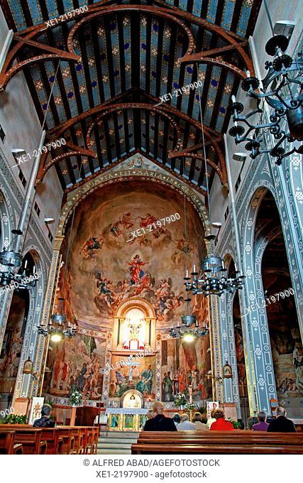 Church of Santa Maria de la Salut, Castelldefels, Catalonia, Spain