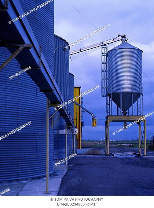 Storage silos at granary