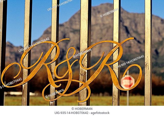 Rupert & Rothschild gate, Franschhoek, Western Cape