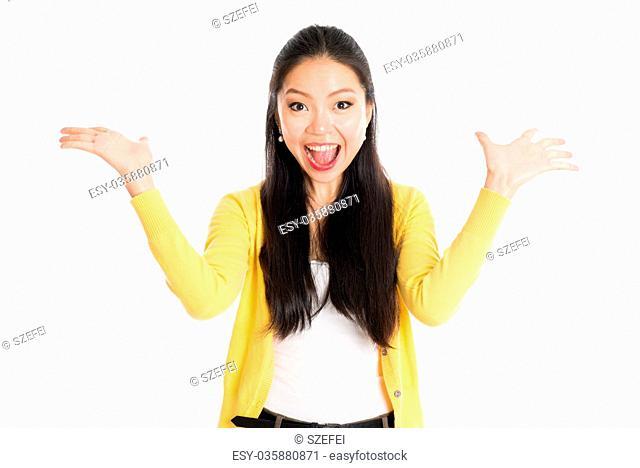 Surprised Asian girl