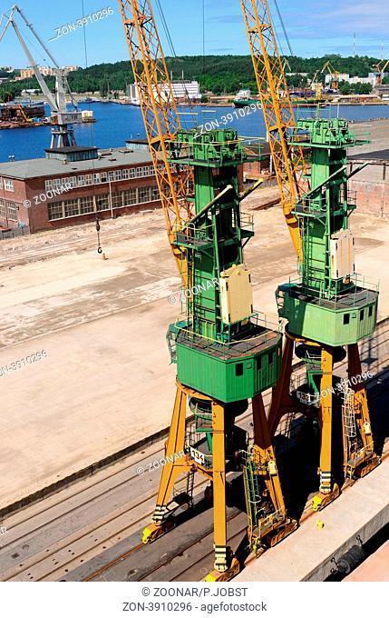 Hafen von Gdynia in Polen / Port of Gdynia in Poland