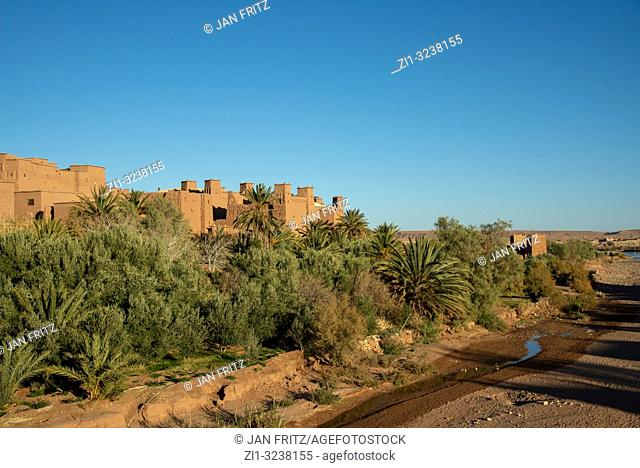 Ait Benhaddou in High Atlas mountains in Maroc