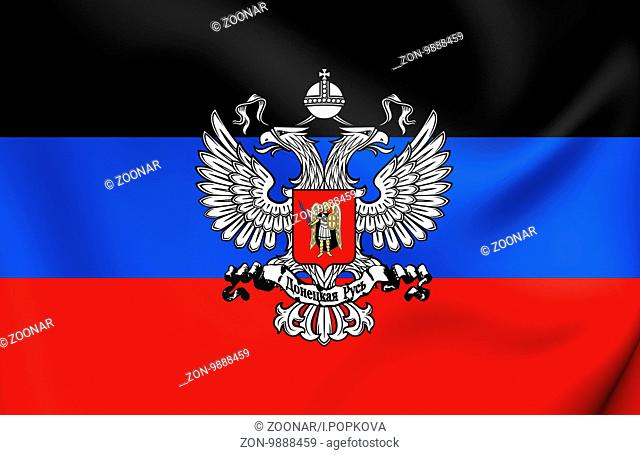 3D Flag of the Donetsk People's Republic. Close Up