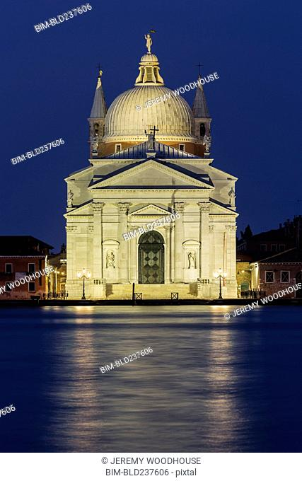 Church at waterfront, Venice, Veneto, Italy