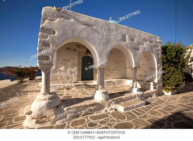 View to the main church in Parikia, Paros, Cyclades Islands, Greek Islands, Greece, Europe