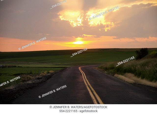 Sunset in the Palouse, Eastern Washington State, USA
