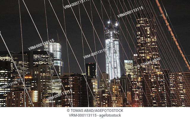 View of the Freedom Tower, Ground Zero, New York City, USA