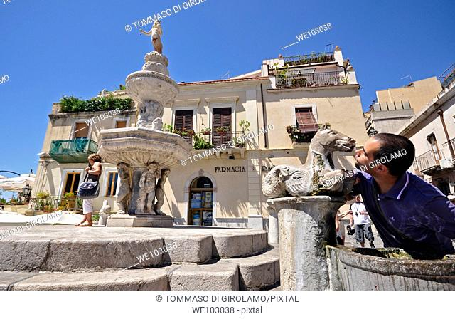 Taormina, baroc fountain