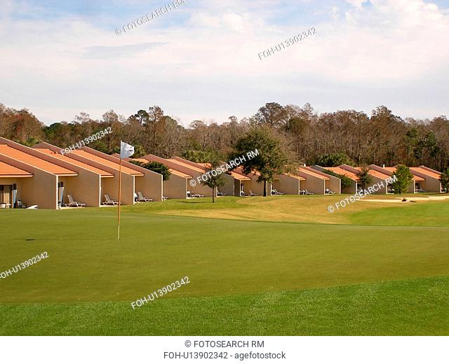 timeshare villas, golf course, Orange Lake Resort and Country Club, Orlando, Florida, FL, FLA, Kissimmee