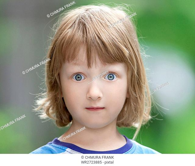 beautiful, blond, boy, Caucasian, child, childhood, children, colour, cute, eyes, expression, kid, look, looking, outdoor, outside, person, portrait, summer