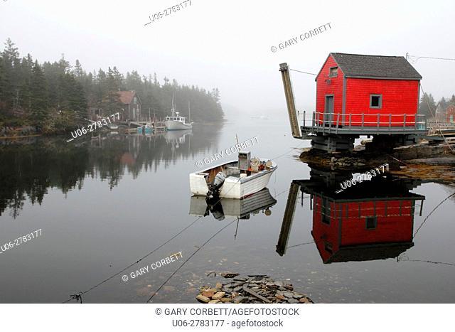 The fishing village of Stonehurst Nova Scotia near Lunenburg