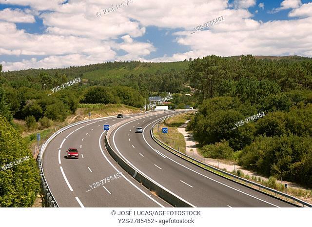 AG-11 motorway, Rianxo, La Coruña province, Region of Galicia, Spain, Europe