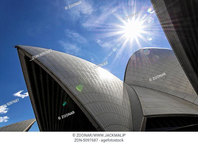 sydney opera house detail in australia