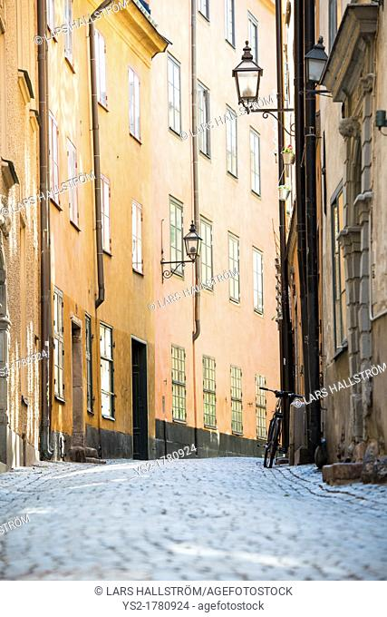 Old buildings in the centre of Stockholm, capital of Sweden