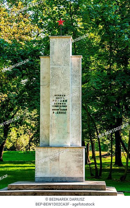 Cemetery of Soviet Soldiers. Kalisz, Greater Poland Voivodeship, Poland