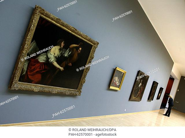 The painting 'Joseph and Potiphar's wife' by Dutch painter Govert Flinck (1615-1660) is featured in the exhibition 'Govert Flinck - Reflecting History' at the...