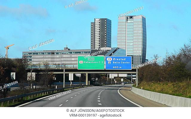 Highway E20 in Copenhagen