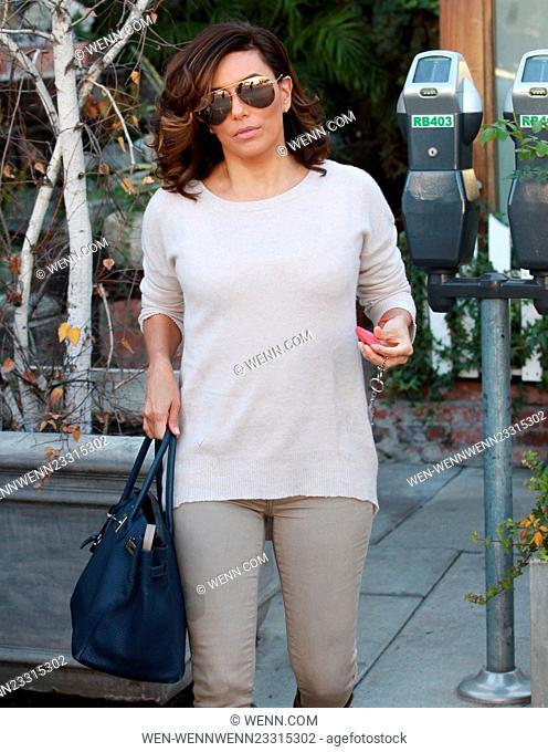 Eva Longoria leaves Ken Paves salon in Hollywood on New Year's Eve Featuring: Eva Longoria Where: Los Angeles, California