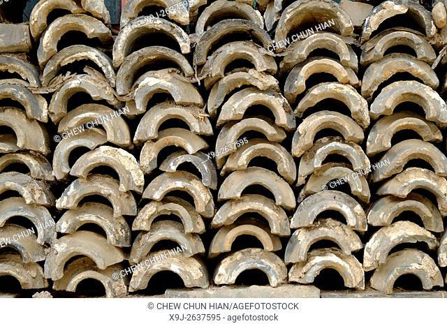 Tiles, Shuhe village, Dali, Yunnan Province, China