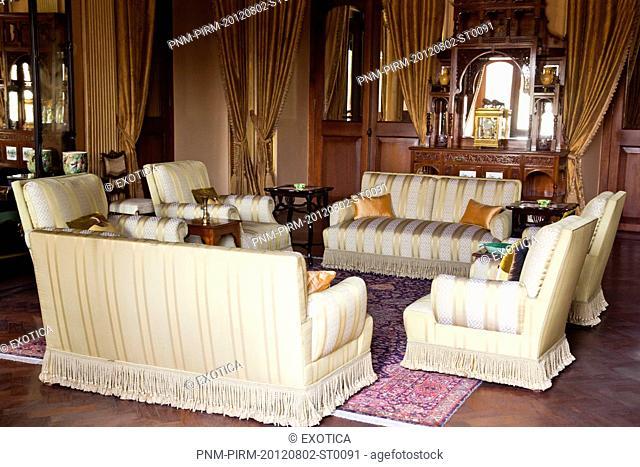 Interiors of a palace, Chowmahalla Palace, Hyderabad, Andhra Pradesh, India
