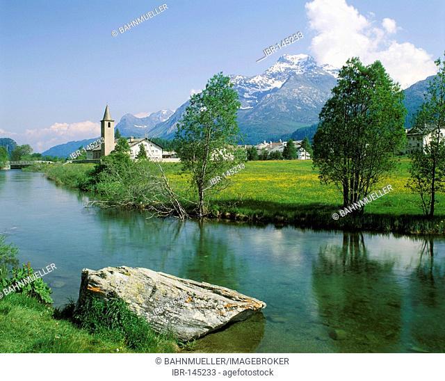 Sils upon lake Sils Upper Engadin Switzerland