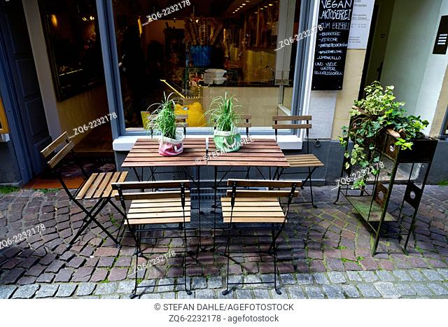 Restaurant in the Old Town of Heidelberg, Germany