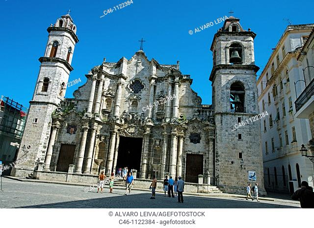San Cristobal Cathedral. Havana Vieja District. Havana. Cuba