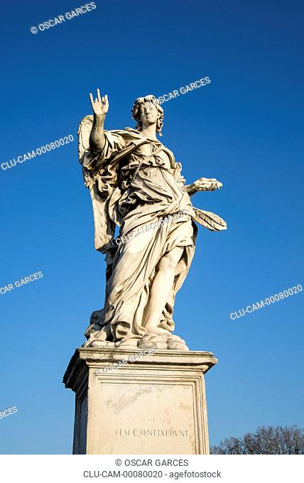 Angels of Sant'Angelo Bridge, Rome, Lazio, Italy, Western Europe