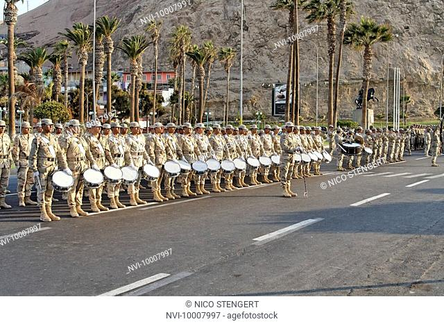 Rehearsal for the National Day Parade, Arica, Chile, South America