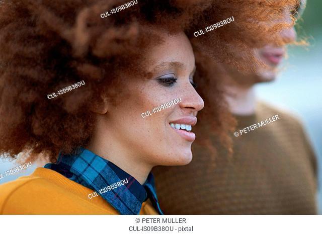 Portrait of loving multi-ethnic couple