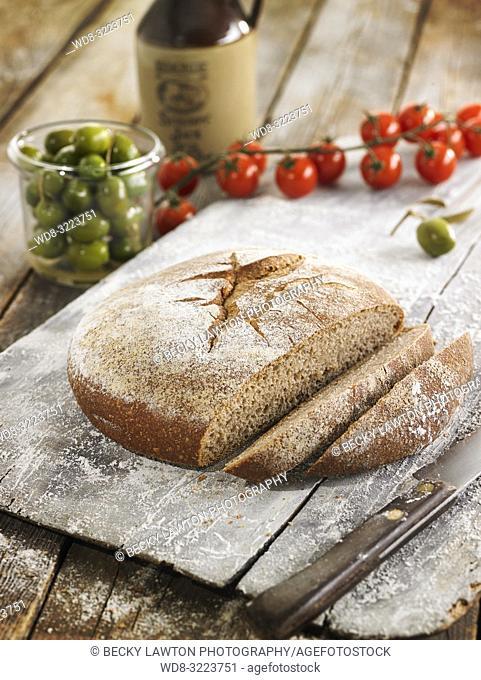 hogaza de espelta integral / whole spelt bread loaf