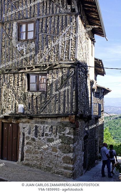 Traditional house of Mogarraz, Conjunto Historico, Las Batuecas & Sierra de Francia Natural Park, Salamanca, Castilla y Leon, Spain