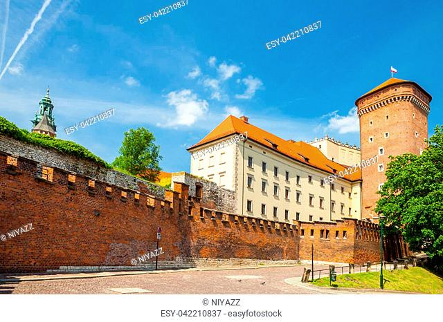 Senator's tower at Royal Wawel Castle as a part of well-known historical complex of Krakow, Poland