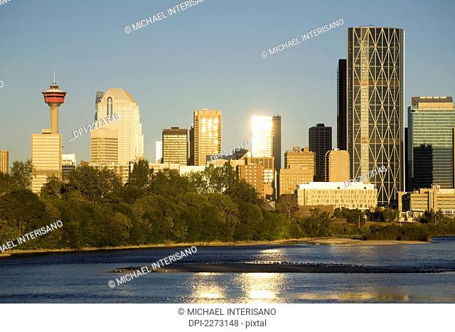 Calgary Skyline At Sunset Stock Photos And Images Age