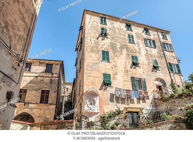 Palazzo Pagliari in the old town of Imperia at the Ligurian Coast, North West Italy