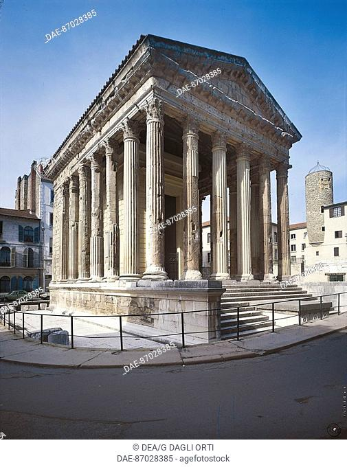 France - Rhone-Alpes - Vienne. Temple of Augustus and Livia