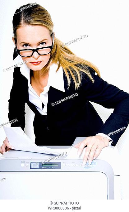 Woman photocopier