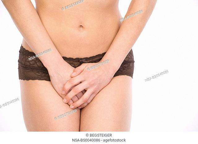symbolic for woman with urinary incontinence