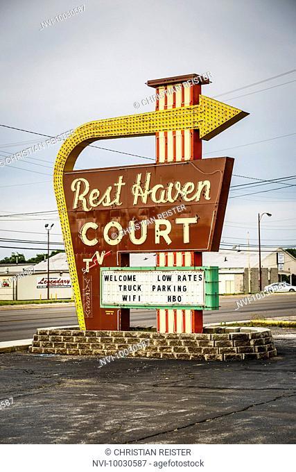 Motel, Historic Route 66, Springfield, Missouri, USA