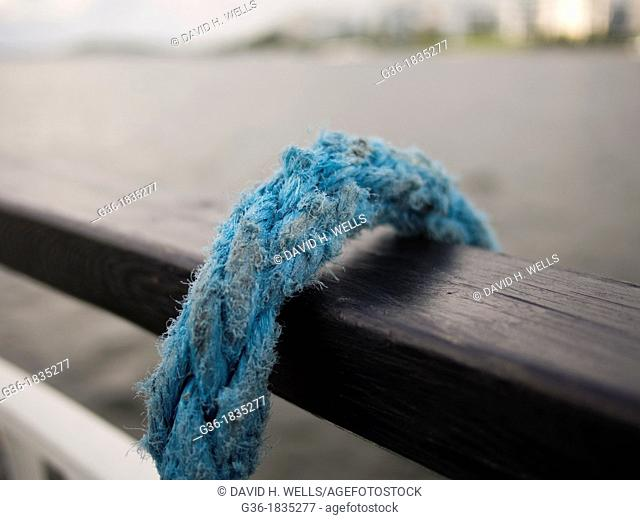 Rope on a lake tour boat in Lahti, Finland