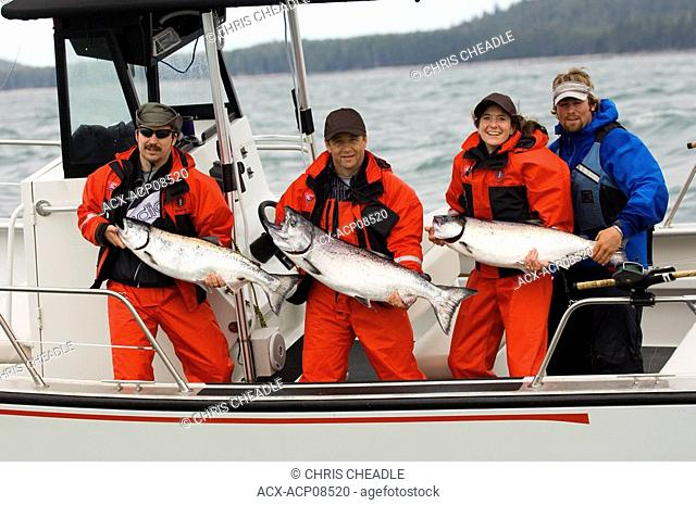 Sport fishing at Langara Island Lodge, Queen Charlotte Islands, British Columbia, Canada