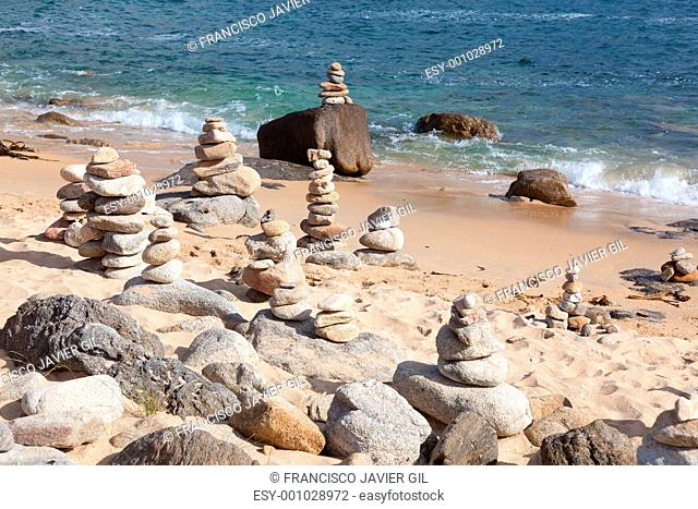 Beach near at Castro de Baroña, Spain
