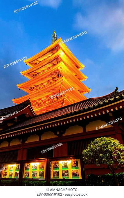 Tokyo, Japan- October 26, 2014: Tourist visit Sensoji, also known as Asakusa Kannon Temple is a Buddhist temple located in Asakusa