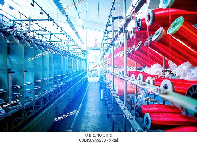 Rope production in factory that makes products for boating and camping