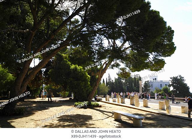 Africa, North Africa, Tunisia, Tunis, Carthage, Byrsa Hill, Sightseers among Punic Ruins