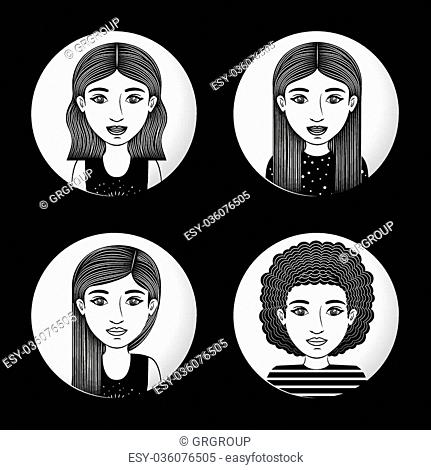 Woman concept about young person design, vector illustration eps 10