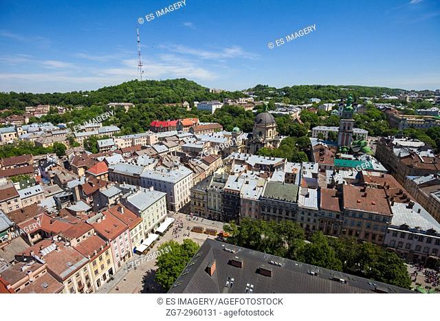 View over the old city of Lviv, Ukraine