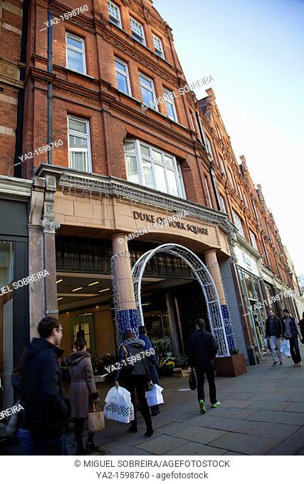Duke of York Square on Kings Road - Sloane Square - London UK