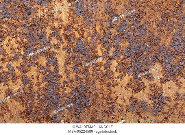 Rusty metal surface, background, texture