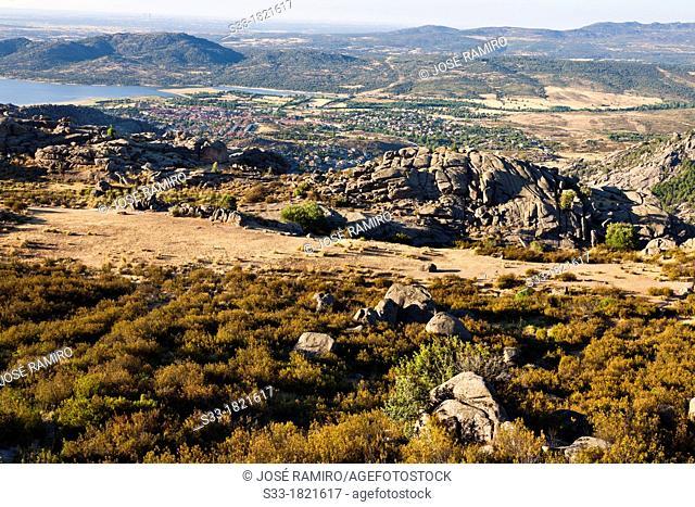 Manzanares el Real from the Pedriza  Madrid  Spain